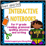Main Idea, Short I, Commas in a Series Interactive Notebook