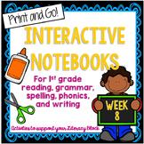 First Grade Literacy Block Interactive Notebook: Week 8