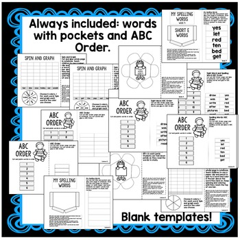 1st Grade Interactive Notebook Week 9 Short E,Biography,Singular Nouns,Antonyms