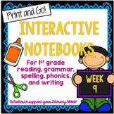 First Grade Literacy Block Interactive Notebook: Week 9
