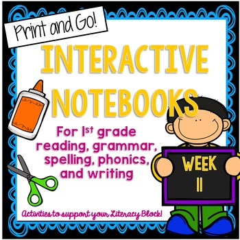1st Grade Interactive Notebook Week 11 Proper Nouns, Autho