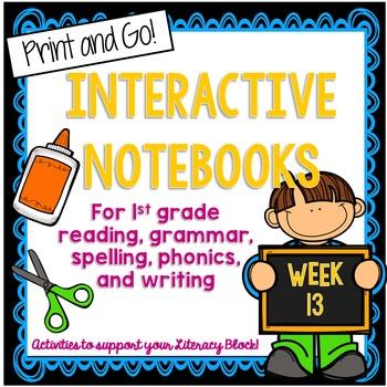 1st Grade Interactive Notebook Week 13 Digraphs, Contracti