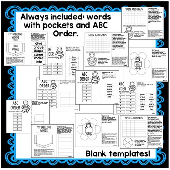 First Grade Interactive Notebook  Week 14 Long A, Drawing Conclusions, Verbs