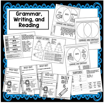 First Grade Interactive Notebook Week 15 Long I, Compare and Contrast, Verb Be