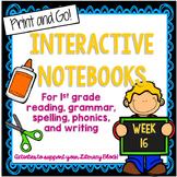 Long o, Main Idea, Questioning Interactive Notebook