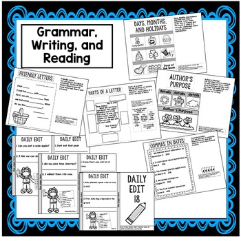 First Grade Literacy Block Interactive Notebook: Week 18