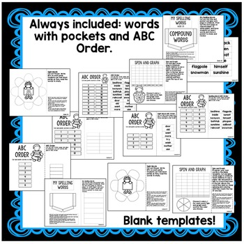 Compound Words, Cause and Effect Interactive Notebook