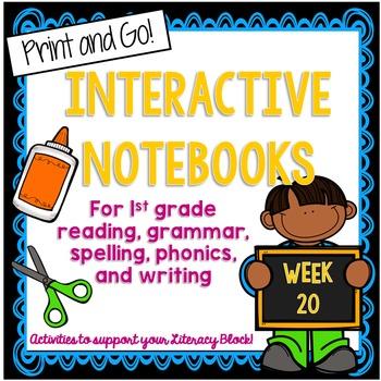 First Grade Interactive Notebook Week 20 Compound Words, C