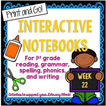 First Grade Interactive Notebook Week 22 Drawing Conclusio