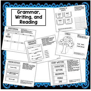 First Grade Interactive Notebook Week 24 Sequencing,Story Writing oo, ou, ew, ue