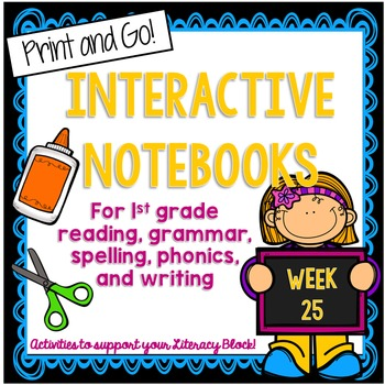 Characters, Synonyms, Contractions Interactive Notebook