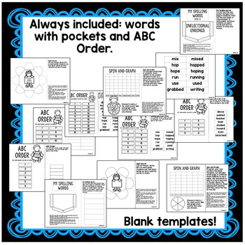 1st Grade Interactive Notebook Week 26 Compare & Contrast,-ed,-ing,Exclamations