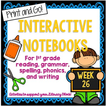 1st Grade Interactive Notebook Week 26 Compare & Contrast,