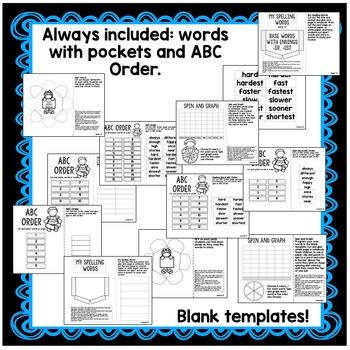 First Grade Interactive Notebook Week 27 Author's Purpose, -er, -est, Sentences