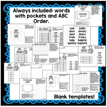 Characters, Long Vowels, Opinion Writing First Grade Interactive Notebook