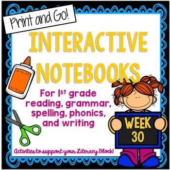 First Grade Interactive Notebook Week 30 Main Idea, Syllab