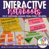 First Grade Interactive Notebooks Bundle {30 WEEKS} Reading, Grammar, Spelling