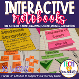 First Grade Interactive Notebooks Bundle {30 SETS} Reading, Grammar, Spelling