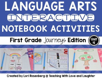 Language Arts Interactive Notebook Unit 4 {Compatible With First Grade Journeys}