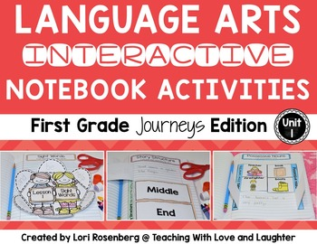 Language Arts Interactive Notebook Unit 1 {Compatible With First Grade Journeys}