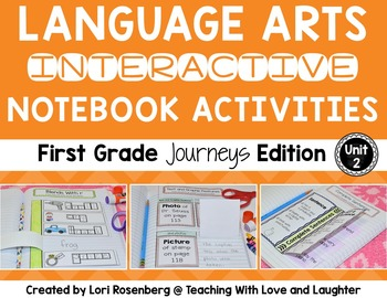 Language Arts Interactive Notebook Unit 2 {Compatible With
