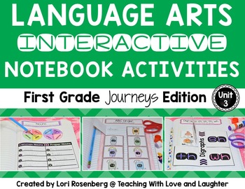 Language Arts Interactive Notebook Unit 3 {Compatible With First Grade Journeys}