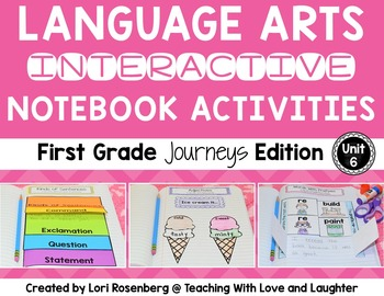 Language Arts Interactive Notebook Unit 6 {Compatible With First Grade Journeys}