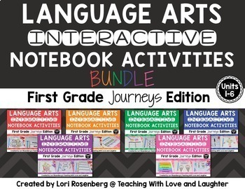 Language Arts Interactive Notebooks Bundle {For Use With First Grade Journeys}