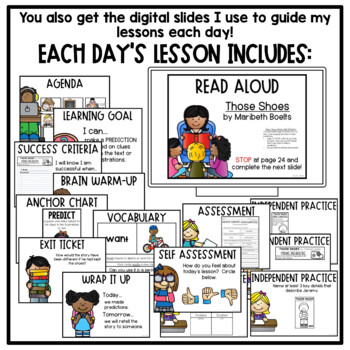 First Grade Interactive Read Aloud Lessons {August}
