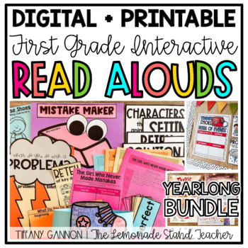 First Grade Interactive Read Aloud Lessons {ENTIRE YEAR GROWING BUNDLE}