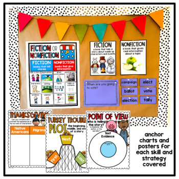 First Grade Interactive Read Aloud Lessons {November}