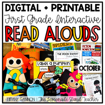First Grade Interactive Read Aloud Lessons {October}