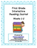 First Grade Interactive Reading Journal Weeks 1-2