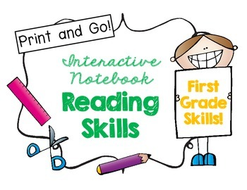 First Grade Interactive Reading Skills Notebook!