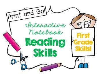 First Grade Interactive Reading Skills Notebook!