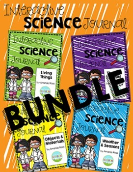 First Grade Interactive Science Journal: BUNDLE {Editable}