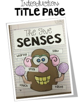 First Grade Interactive Science Journal: The Five Senses {Editable}