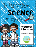 First Grade Interactive Science Journal: Weather and Seasons {Editable}