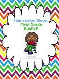 First Grade Intervention Binder Bundle