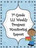 First Grade Intervention Progress Monitoring Data Sheet/ Report