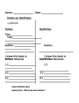 First Grade Introduction to Nonfiction (Animals) Unit