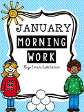 First Grade January Morning Work Pack