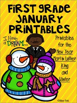 First Grade January Printables