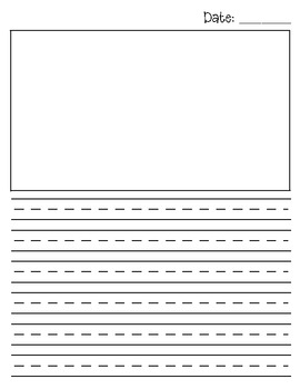 first grade journal template by jeremie tharp teachers pay teachers