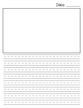 First grade journal template by jeremie tharp teachers for Teacher diary template