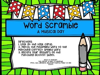 First Grade Journey's Spelling Centers & Activities(Story:A Musical Day)