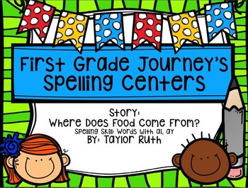 First Grade Journey's Spelling Centers & Activities (Where Does Food Come From?)