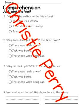 First Grade Journey's Unit 2 Comprehension Tests