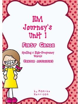 First Grade Journey's Unit Spelling Center/Homework Activities