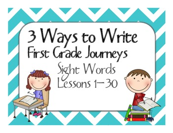 First Grade Journeys - 3 Ways to Write High Frequency Words